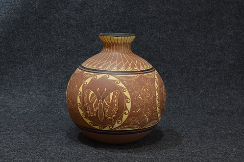 Porcelain Clay Vase -  by Mary Yazzie