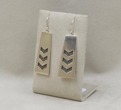 Sterling Silver Chevron Earrings by John Paul Rangel