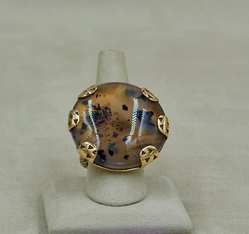 Bronze & Montana Agate 7.75X Ring by Melanie DeLuca