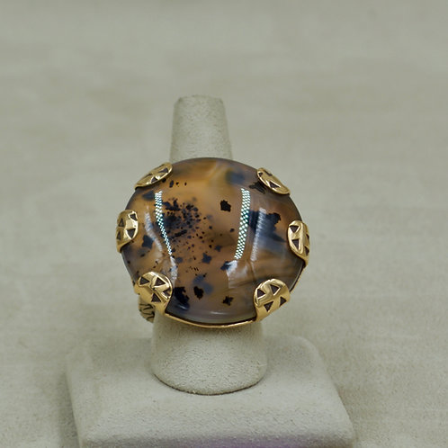 Bronze & Montana Agate 7.75X Ring by Melanie DeLuca