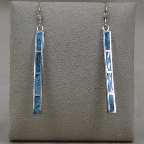 Sterling Silver Medium Dancing Stick Earrings by Michael & Melanie L