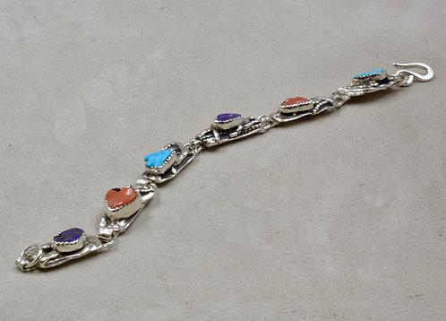 Coral, Kingman Turquoise, & Sugelite Bracelet by Robert Mac Eustace Jones