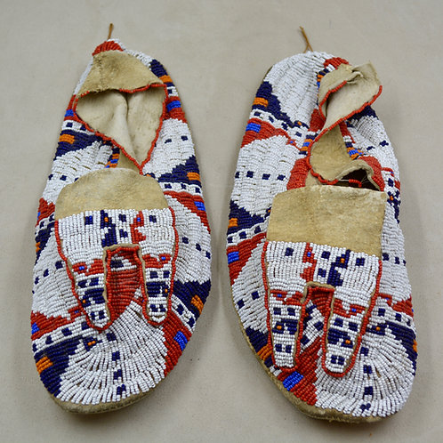 Beaded Sioux Moccasins, Ca 1900
