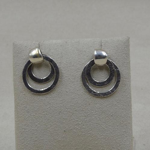Sterling Silver Stone Roc w/ Double Hoop Earrings by Richard Lindsay