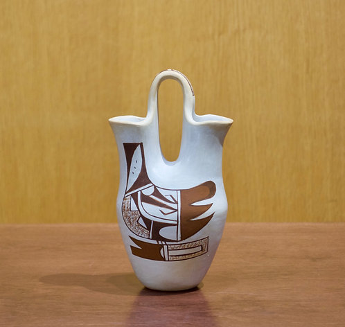 "Small Hopi Wedding Vase - 7""H x 4""D - by Loretta Navasie"