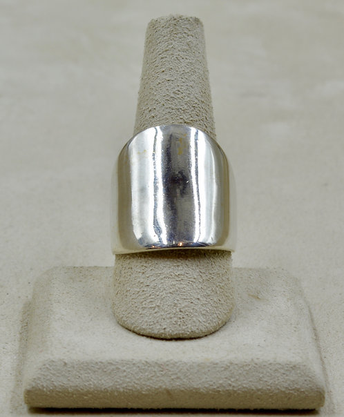Sterling Silver 9x Infinity Ring by Charles Sherman