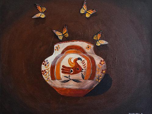 """""""Parrot Pot"""" Acrylic on Canvas by David Gary Suazo"""