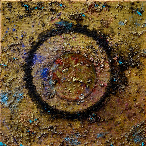 """""""Ceremonial Sun Series"""" - Ac/Mixed on Canvas - 8"""" x 8"""" - by Doug Coffin"""