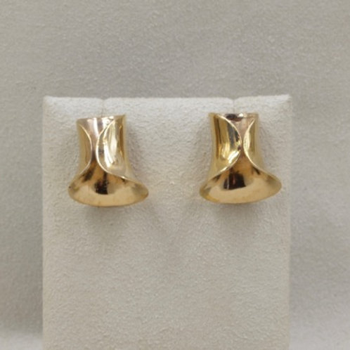 Bronze Bell Helicurve Earrings by Richard Lindsay