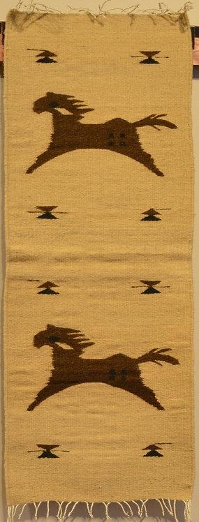"Zapotec Table Runner Horses - 15"" X 40"""