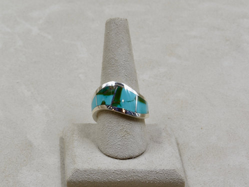 Royston Turquoise & Sterling Silver Wave 9.5x Ring by Tim Busch
