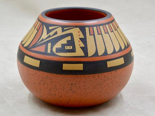Polychrome Jar w/ Hawk Motif by Cavan Gonzales, San Ildefonso Pueblo