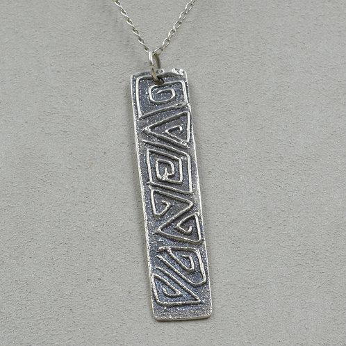 Sterling Silver Tufa Pendant w/ SS Chain by Elle Claw