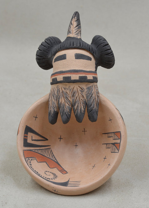 Jemis Mana Bowl w/ Vegetal Paints and Kiln Fired by Valerie Namoki