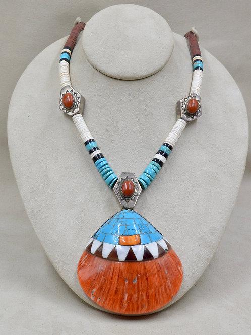 Santo Domingo Turquoise Shell Necklace