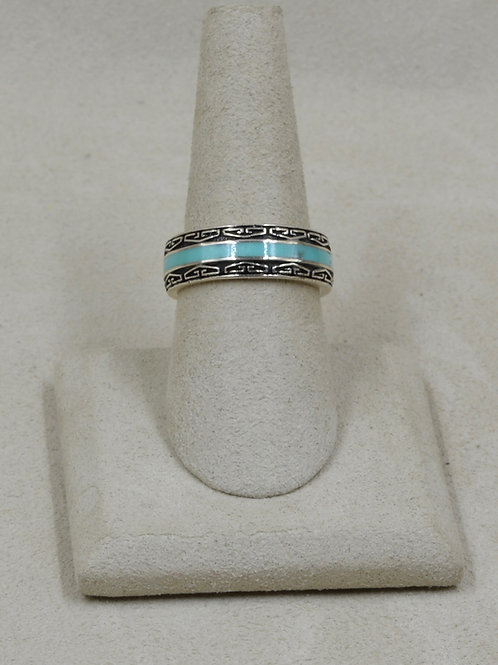 Campitos Turquoise & Sterling Silver 8x Ring by GL Miller Studio