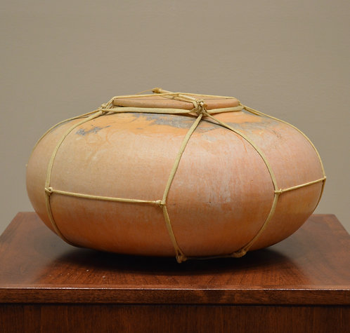 """Contemporary Fired Pot - Signed """"Graham"""" - 8"""" X 14"""""""