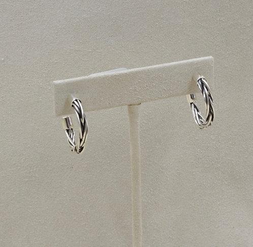 Medium Mixed Wire Hoop Earrings by Richard Lindsay