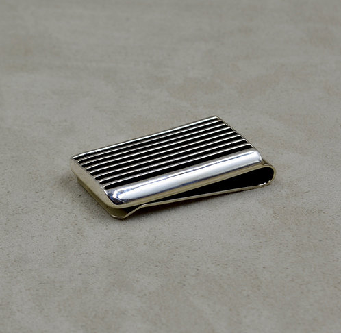 Oxidized Sterling Silver Moneyclip by Frances Jones