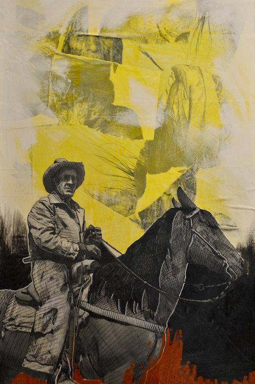 """Far Away"" Acrylic/Mixed on Canvas - 40"" x 24"" - by Cyrus Walker"