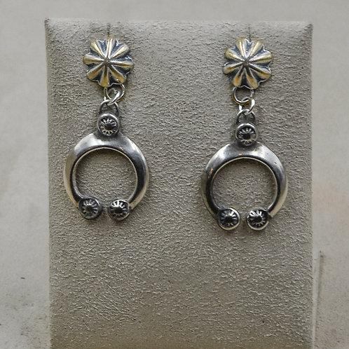 Ingot Naja Concho Top Post Sterling Silver Earrings by Buffalo