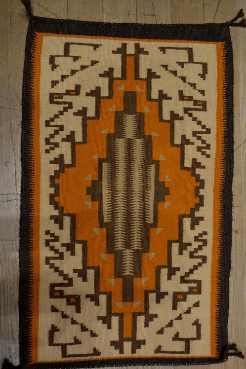 "Vintage Navajo Weaving - California 20's - 40's / 31"" x 18"""