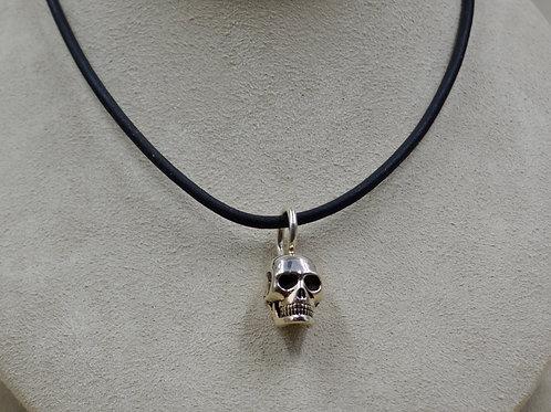 All Sterling Silver Medium Skull Pendant by JL McKinney