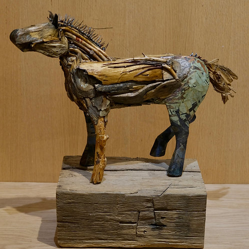 """Evolution (Wood to Paper)"" Mixed Sculpture by Valerie Dunning Edwards"