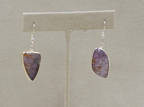 Sterling Silver 7 Sisters Cocoxinite Earrings by Richard Lindsay
