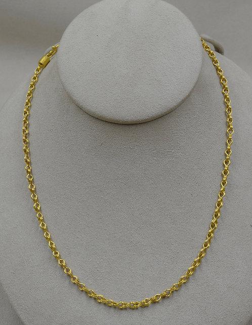 "Handwoven 22k Sailor Knot 17.25"" Chain by Pamela Farland"