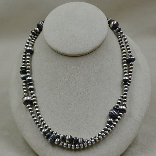 """5mm Sterling Silver 36"""" Multi-Bead Necklace by Shoofly 505"""