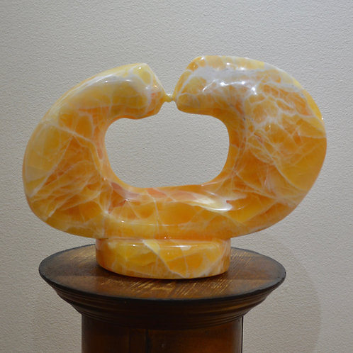 """Sun Kiss"" Calcite Sculpture by Carlo Martinez"