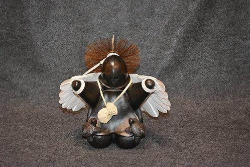 Medium Turtle Eagle Dancer Sculpture by Randy Chitto