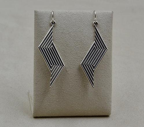 Sterling Silver Diamond Ojo 4 Wire Earrings by Steve Taylor