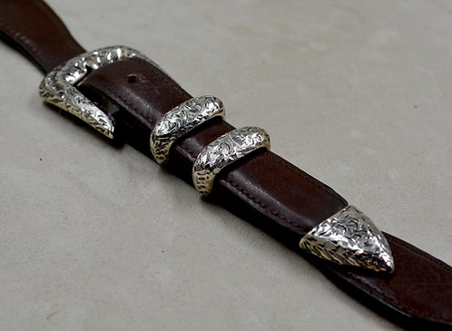 """Western Driver"" Sterling Silver 4 Piece 1"" Ranger Set by John Rippel"