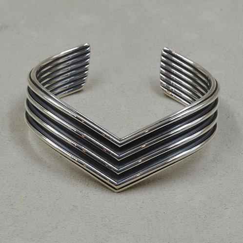 Sterling Silver V Cuff by Steve Taylor