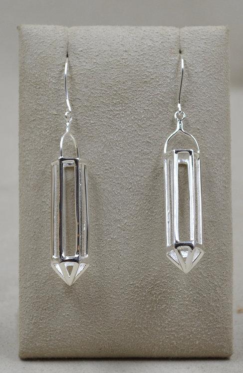 Sterling Silver Crystal Earrings by Roulette 18