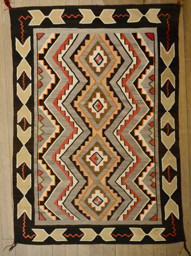 Teec Nos Pos Vintage Navajo Weaving 58 Quot X 43 Quot Truewest