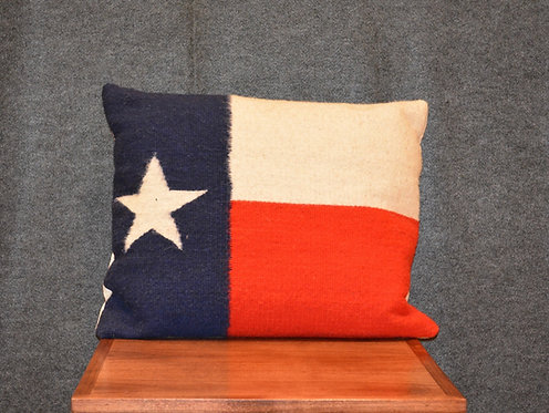 """Set of 2 Texas Flag Zapotec Pillows - 17"""" X 20"""""""