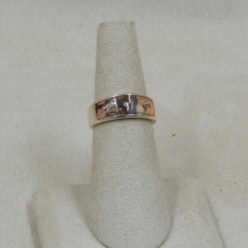 Lab Opal, Jasper, & Sterling Silver 5x Ring by GL Miller Studio