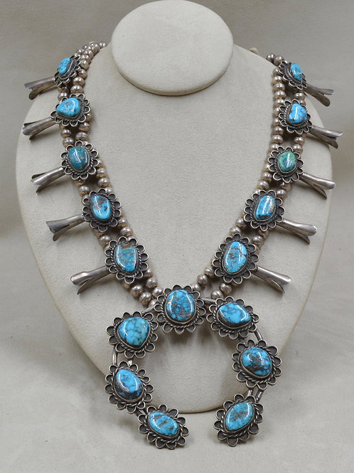 Vintage 50's/60's Squash Blossom Necklace with Turquoise