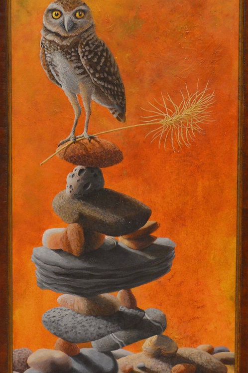 """Balancing Owl"" by Liza Myers"