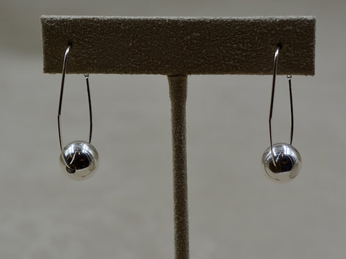 Short Sterling Silver Hoop Earrings by Sippecan Designs