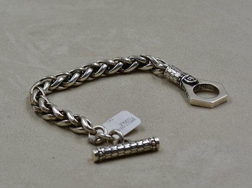 Sterling Silver 8mm Wheat Chain Bracelet by JL McKinney