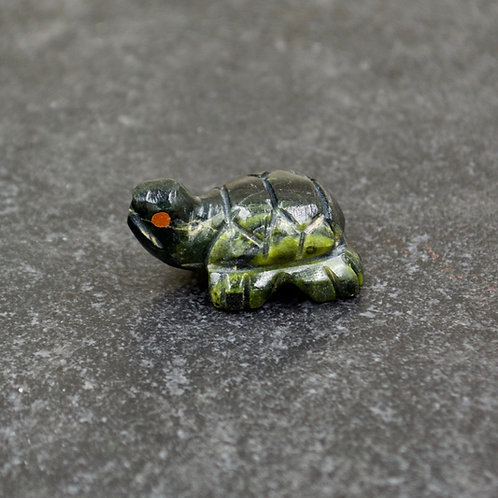 "Serpentine Turtle Fetish 1/2"" x 1"" Zuni for Traderoots"