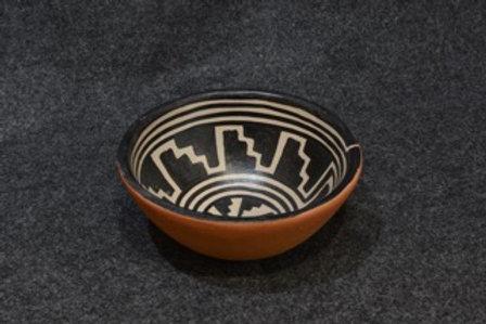 Mesa Verde Step Pattern Bowl #1 by Robert Tenorio, Santo Domingo Pueblo