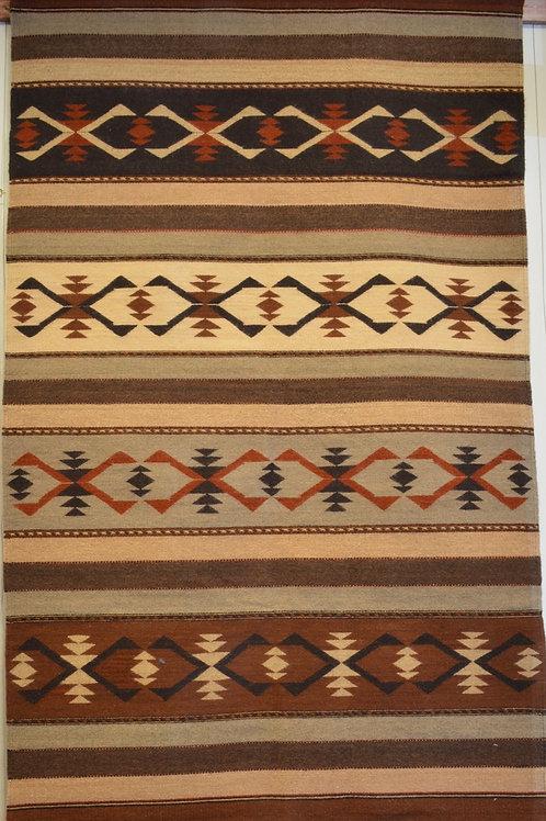 "Mohair 4 P Geometric Zapotec Weaving- 82"" X 50"""