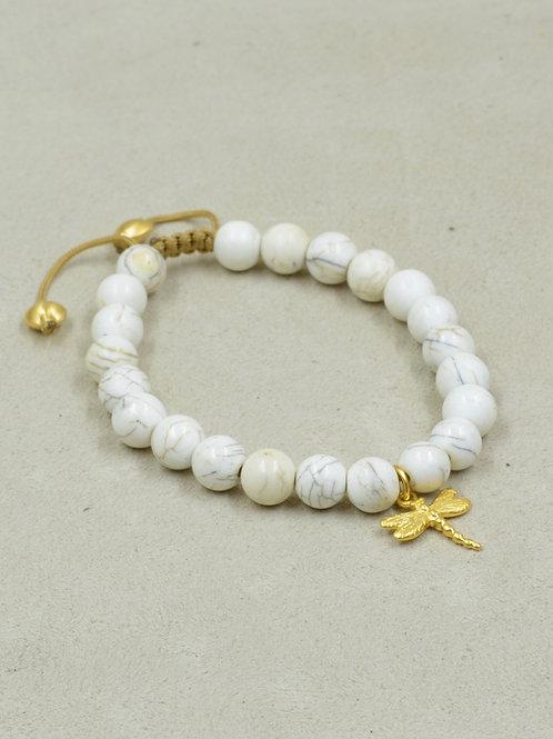 Meditation Bracelet w/ Conch Shell, 22k Vermeil Gold, Lotus Flower by True West