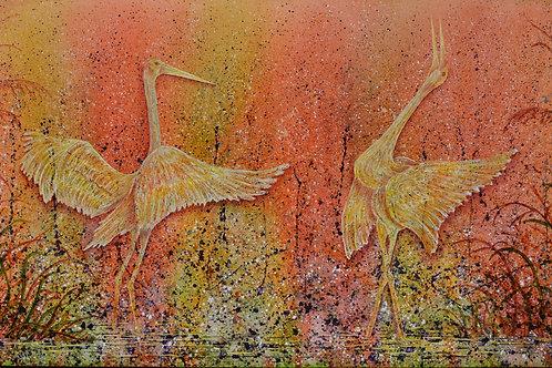 """Joyous Dance"" - 41"" X 75"" - by Ken Bonner"