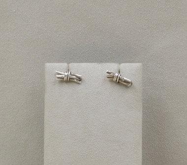 Sterling Silver Twig Bundle Studs by Richard Lindsay